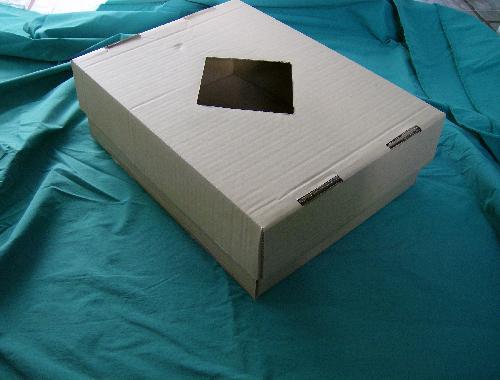cutie cu capac si fereastra
