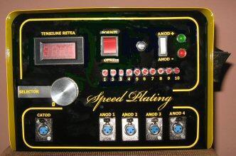 Echipament electronic pentru placari cu aur, argint, crom, n
