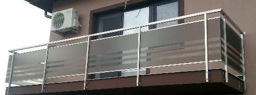 Balustrade inox sticla