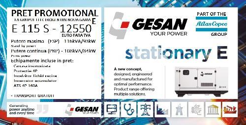 Generator curent 100kVA GESAN Spania generator de curent