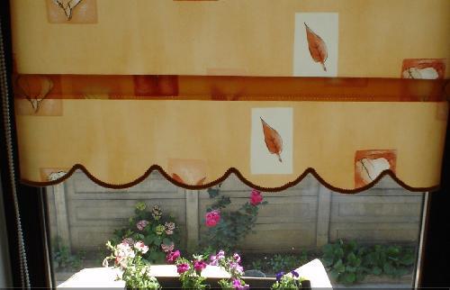 Rolete textile decorative