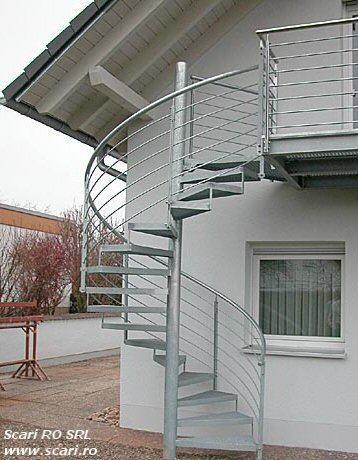 Scara metalica in spirala, scari metalice in spirala