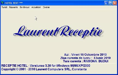 Program software administrare hotel Laurent Receptie Hotel -