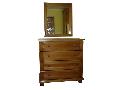 mobilier lemn masiv comoda si oglinda