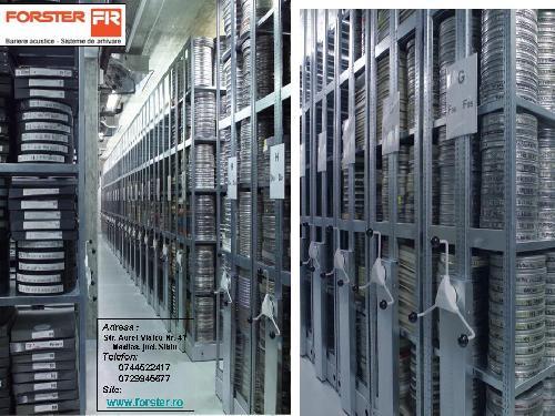 Rafturi, rafturi stationare pentru arhive