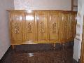 birou receptie lemn masiv stejar