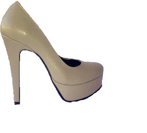 Pantofi piele NUDE BEJ INCHIS