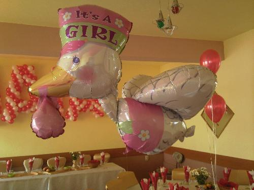 Balon barza cu heliu