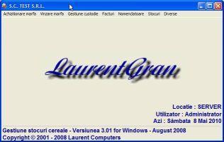Software gestiune cereale LaurentGran - Gestiune Cereale
