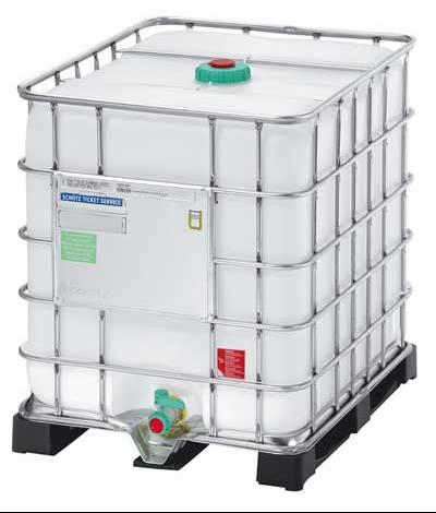 Container IBC-1000 l pe palet metalic
