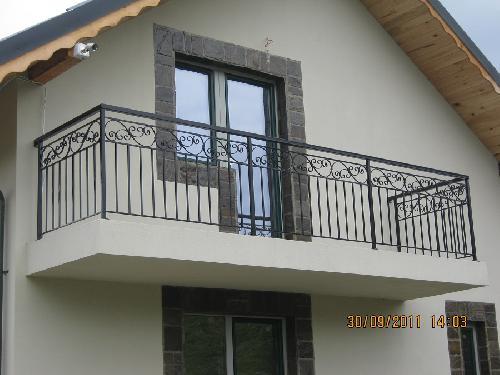 Balustrada exterioara fier forjat - model clasic
