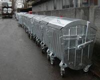 Containere metalice zincate la cald cu orificiu pentru PET/