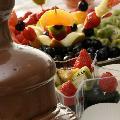 Fantana ciocolata si sculpturi in fructe Arad - www.paradoxc