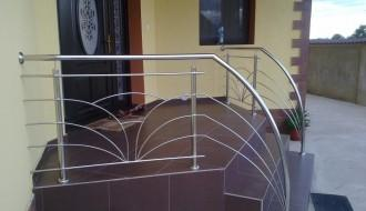 Balustrade inox cu model