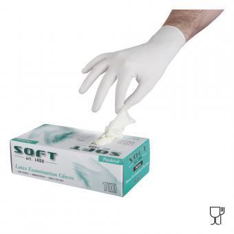 Manusi examinare latex pudrate SOFT