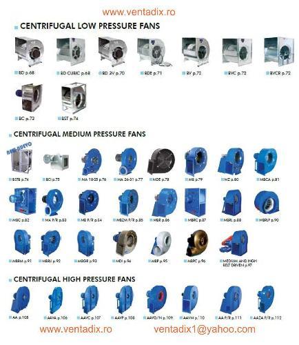 Ventilatoare centrifugale ANTIEX
