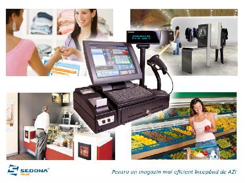 Sistem POS complet cu touch-screen, imprimanta fiscala si pr