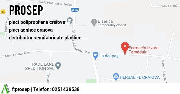 Harta PROSEP SRL - placi aluminiu craiova, placi polipropilena craiova