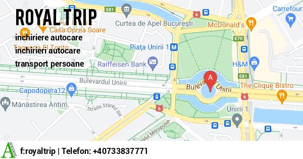 Harta SC ROYAL TRIP SRL - inchiriere autocare, inchirieri autocare