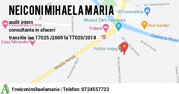 Harta PFA NEICONI MIHAELA MARIA - implementare iso 17025 2005, consultanta iso 17025 2005