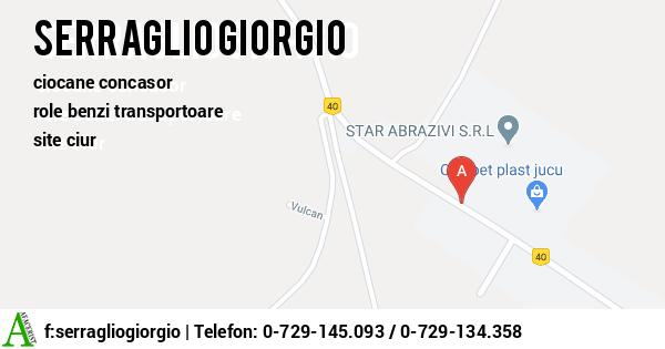Harta SC SERRAGLIO GIORGIO SRL - statii sortare agregate, statie sortare cu concasare