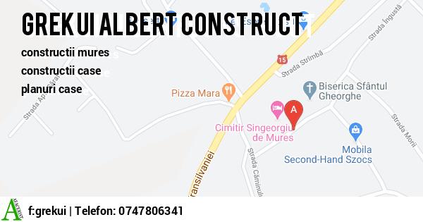 Harta GREKUI ALBERT ASOCIATIE FAMILIALA - constructii mures, constructii case
