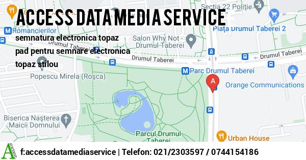 Harta ACCESS DATA MEDIA SERVICE SRL - echipamente tehnica de calcul, proiectare retele computere