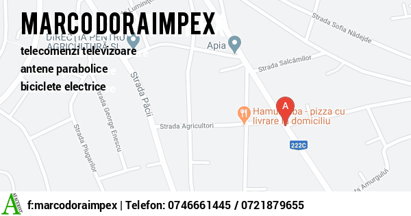 Harta MARCO DORA IMPEX SRL - telecomenzi televizoare, antene parabolice