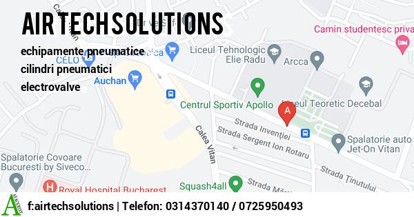 Harta SC AIR TECH SOLUTIONS SRL - echipamente pneumatice, cilindri pneumatici