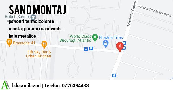 Harta DORAMI BRAND SRL - panouri termoizolante, panouri sandwich