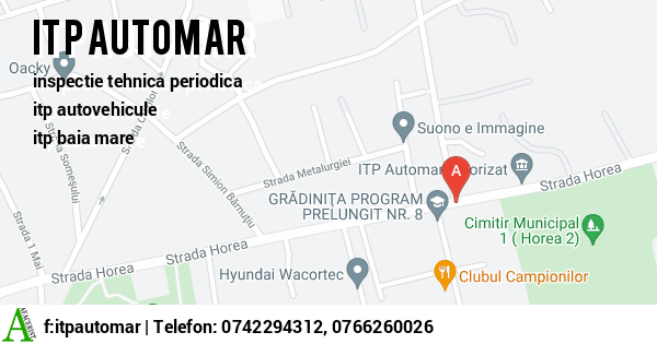 Harta S.C. ITP AUTOMAR SRL - inspectie tehnica periodica, itp autovehicule