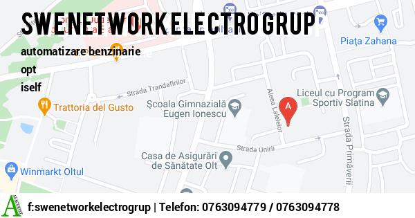 Harta SWE NETWORK ELECTRO GRUP SRL - pompe benzina, pompe motorina