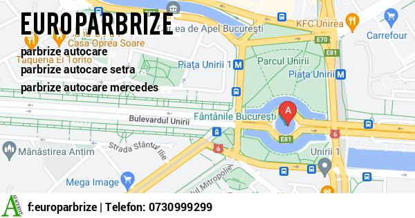 Harta SC EURO PARBRIZE SRL - parbrize brasov, lunete brasov