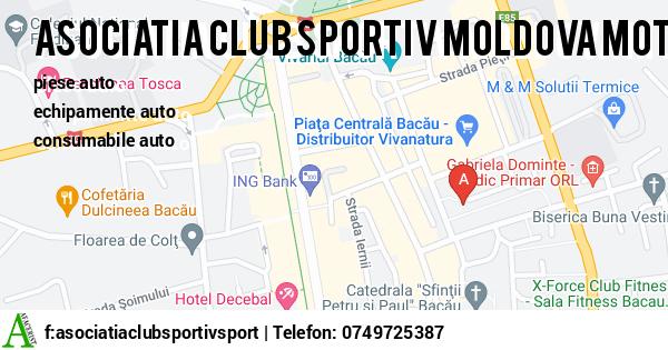 Harta ASOCIATIA CLUB SPORTIV MOLDOVA MOTORS SPORT BACAU AFJ - piese auto, echipamente auto