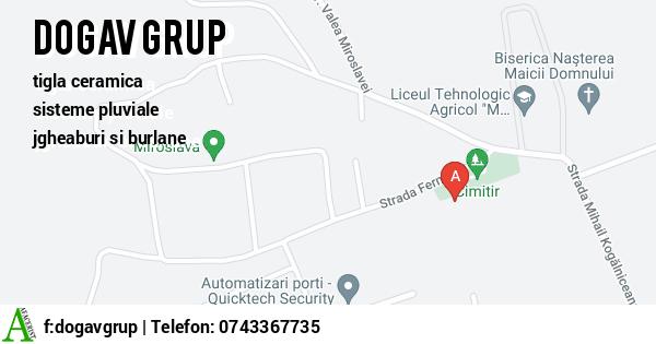 Harta SC DOGAV GRUP SRL - tigla ceramica, sisteme pluviale