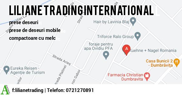 Harta LILIANE TRADING INTERNATIONAL SRL - prese deseuri, prese de deseuri mobile