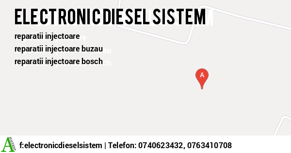 Harta SC ELECTRONIC DIESEL SISTEM SRL - reparatii injectoare, reconditionari injectoare