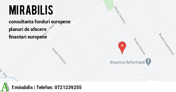 Harta MIRABILIS SRL - consultanta fonduri europene, consultanta fonduri nerambursabile