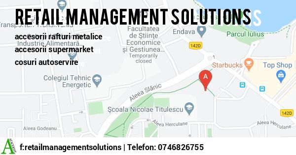 Harta SC RETAIL MANAGEMENT SOLUTIONS SRL - accesorii rafturi metalice, accesorii supermarket