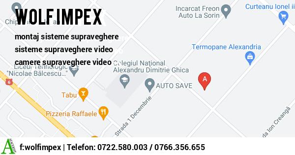 Harta SC WOLF IMPEX SRL - montaj sisteme supraveghere, sisteme supraveghere video