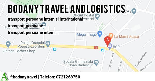 Harta BODANY TRAVEL AND LOGISTICS - transport persoane, transport international