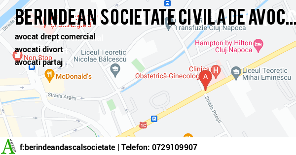 Harta BERINDEAN  DASCAL - SOCIETATE CIVILA DE AVOCATI - avocat drept comercial, avocati divort