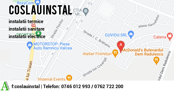 Harta SC COSLAU INSTAL SRL - instalatii termice, instalatii sanitare
