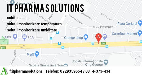 Harta SC IT PHARMA SOLUTIONS SRL - software monitorizare angajati, solutii it