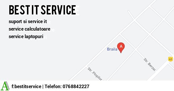 Harta SC BEST IT SERVICE SRL - suport si service it, service calculatoare