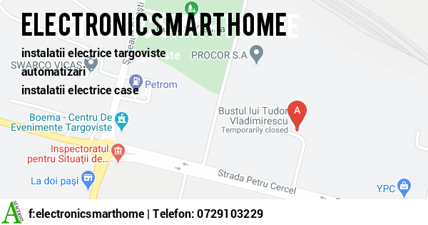 Harta ELECTRONIC SMART HOME SRL - instalatii electrice targoviste, automatizari