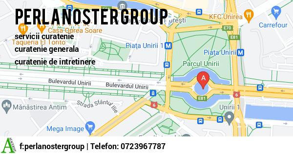 Harta SC PERLA NOSTER GROUP SRL - curatenie, servicii de curatenie