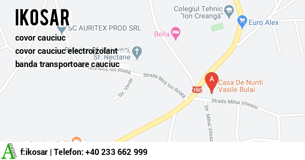 Harta SC IKOSAR SRL - covor cauciuc, covor cauciuc electroizolant