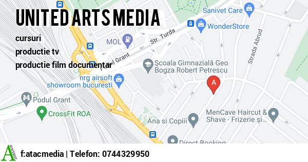 Harta ATAC MEDIA PRODUCTION - productie tv, productie film documentar