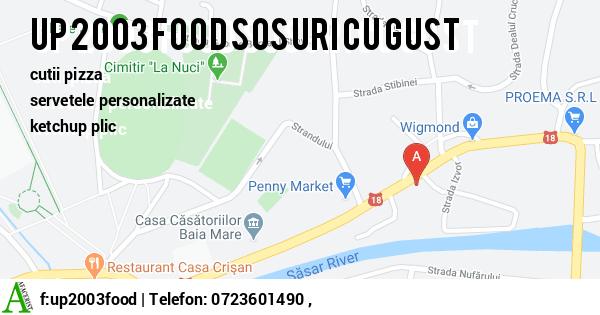 Harta UP 2003 FOOD SRL - cutii pizza, servetele personalizate